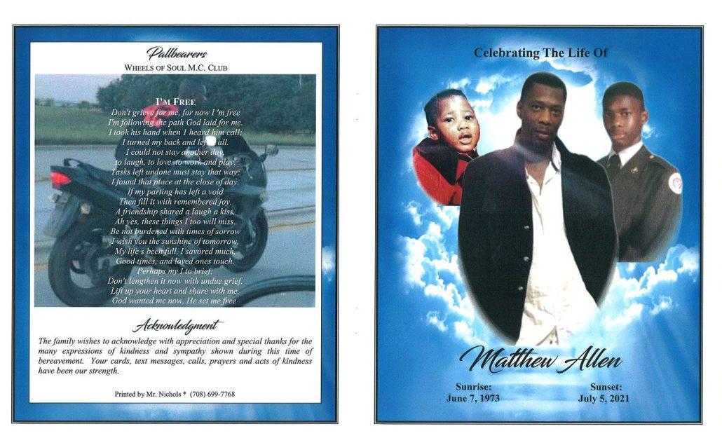 Matthew Allen Obituary