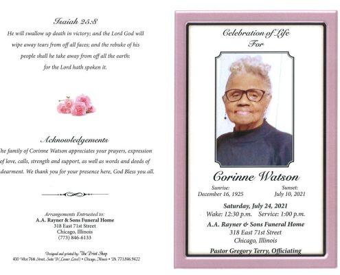 Corinne Watson Obituary