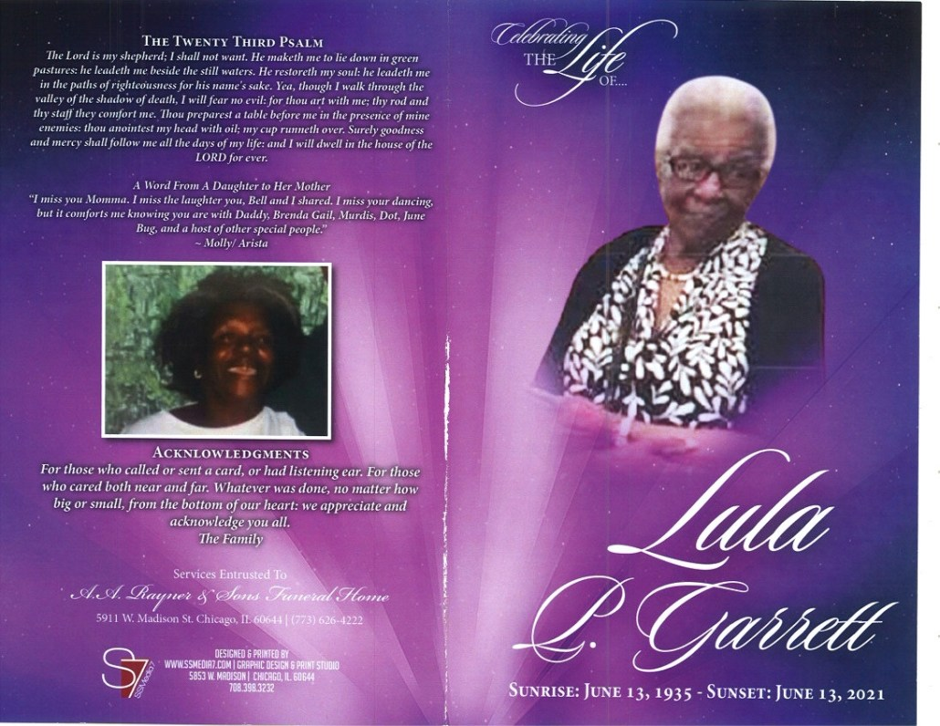 Lula P Garrett Obituary