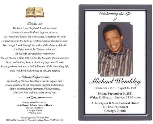 Michael Wembley Obituary