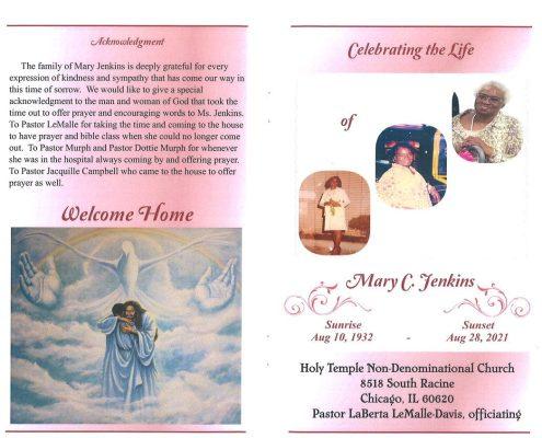 Mary C Jenkins Obituary