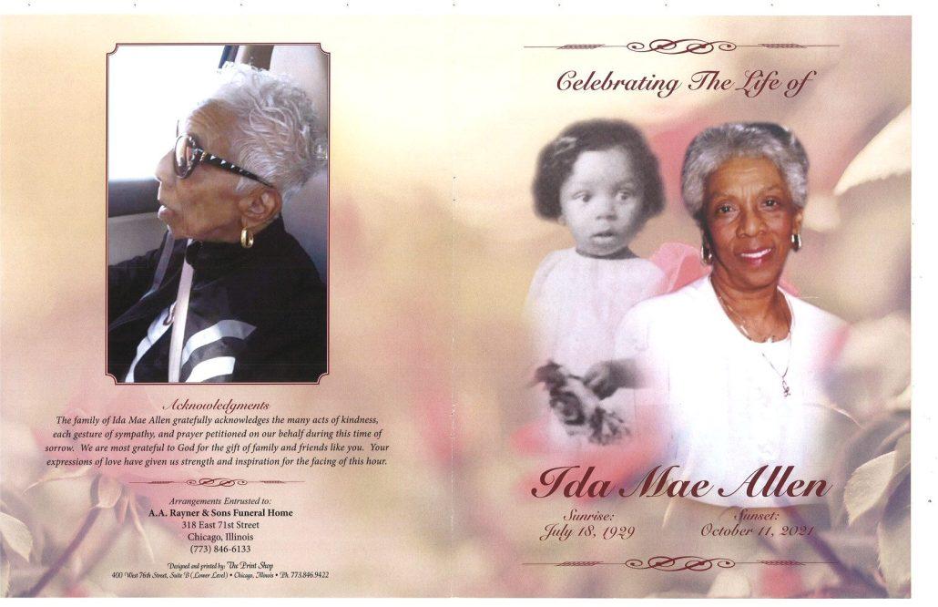 Ida M Allen Obituary
