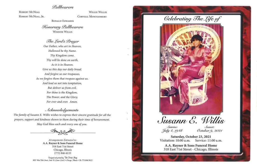 Susann E Willis Obituary