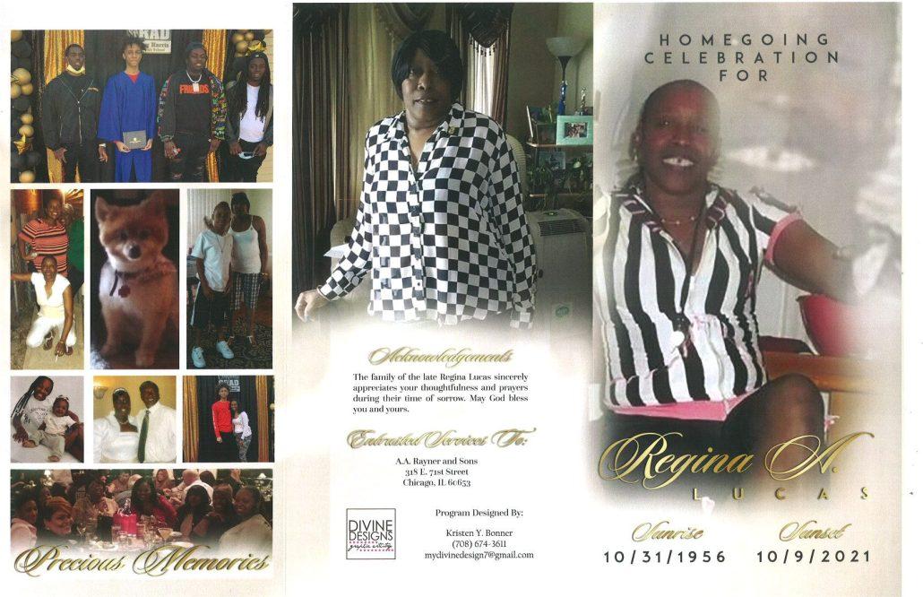 Regina A Lucas Obituary