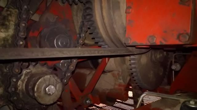 Aandrijving van de Grimme GT 170