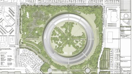 Apple hoofdkantoor layout