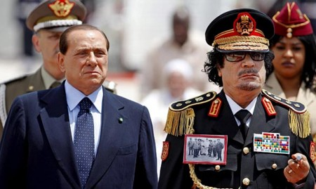 Berlusconi and Qadhafi