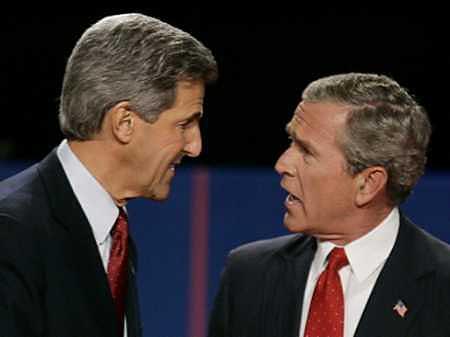 Bush en Kerry
