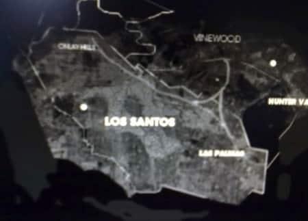 GTA V kaart van Los Santos