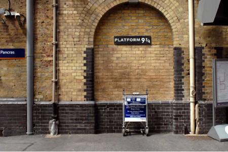 Harry Potter en King's Cross platform 9 3/4