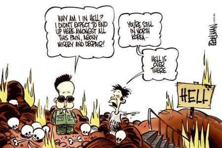 Kim Jong-il in de hel