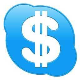 Skype logo with dollar sign