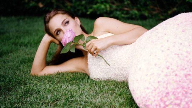 Miss Dior: Natalie Portman smells a rose