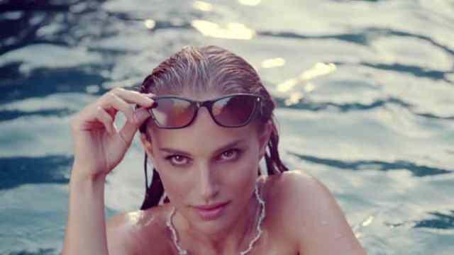 Natalie Portman is swimming