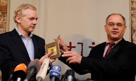 Julian Assange en Rudolf Elmer