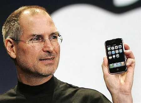 Steve Jobs met iPhone