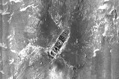 Wrakstuk van de boeg van de Titanic