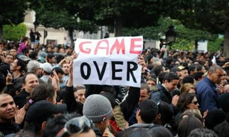 Volksprotest in Tunesië