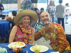 A silly beach party for Purim