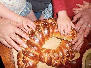touching the challah