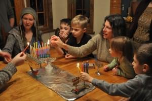 Hanukkah 2013 at Michal's House