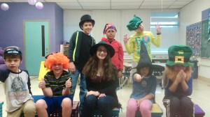 Our kids getting ready for Purim fun