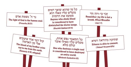 Jewish Protest Signs