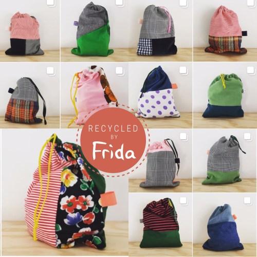 Recycled By Frida (stofposer syet af genbrugsstof)