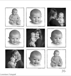 Mor og barn foto collage
