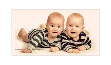 Tvillinger hos fotograf i Aarhus