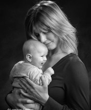 Mor og barn foto