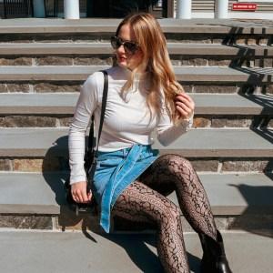 jean skirt oufits