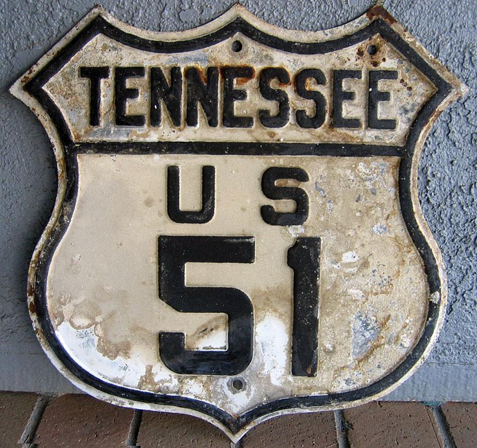 Tennessee U S Highway 51 AARoads Shield Gallery