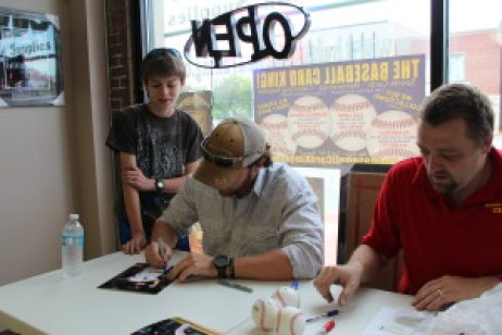 At the Baseball Card King in Oak Lawn another great place to get autographs