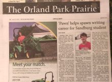 "Feature story in the Prairie Newspaper Life & Arts Section June 21, 2018 on Aaron Hanania and his first book ""The King's Pawn"""