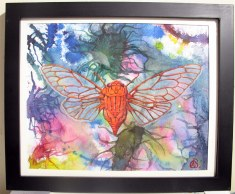 Living Creatures Series-Sacata, 2009, water color paints and pencils on high Gsm Paper, By Aaron O'Brien. For Sale