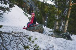 Ella Resting Along The Trail To Dream Lake