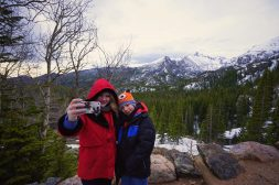 Kaitlyn And Kyle Taking A Selfie On The Trail To Dream Lake