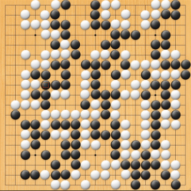 Finished Go game