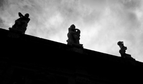 Silhouetted Statues — Oblique