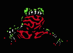 Simplistic Fire-Belly Toad Banner