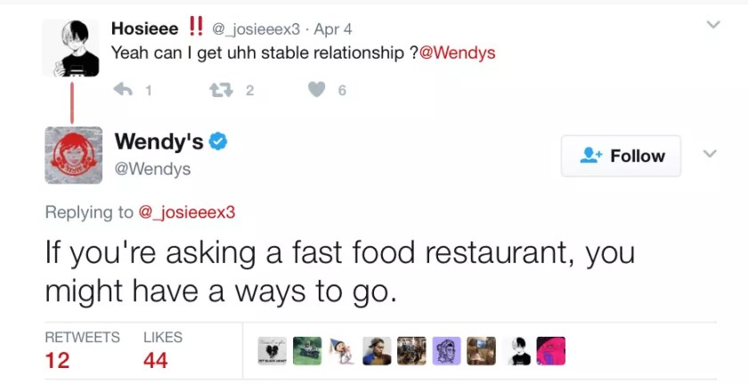 brand social media Wendys twitter