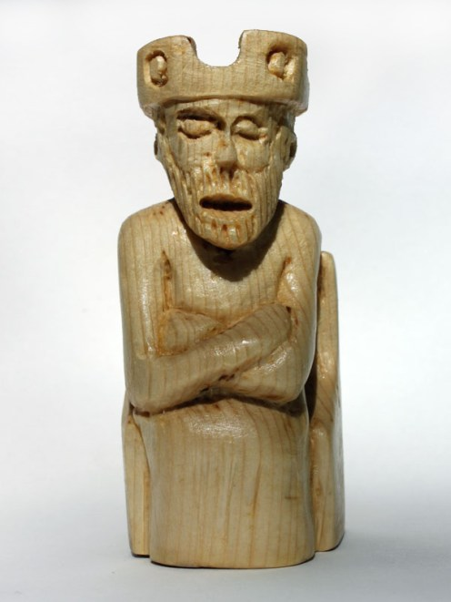 White King. Carved and varnished pine. 2012.