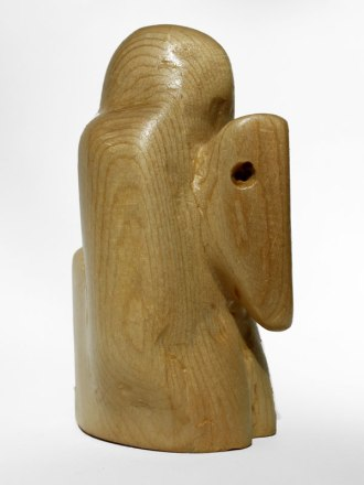 White Knight. Carved and varnished pine. 2013.