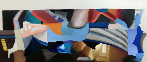 "Untitled. Oil on canvas. 30""x70."" 2014."