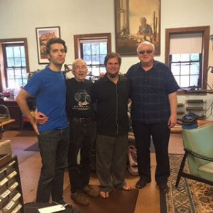 Basil Reeve, Paul Laubin, Alex Laubin, and Aaron Lakota at the Laubin oboe shop