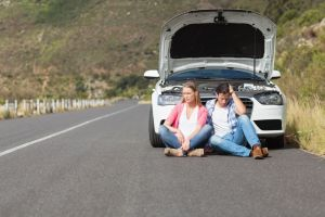 Couple needs roadside assistance