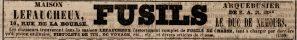 Maison Lefaucheux advertisement from the September 1, 1843 issue of the Journal Des Débats