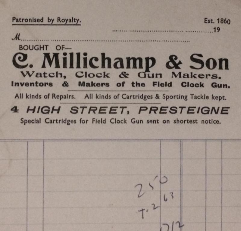 Millichamp Invoice
