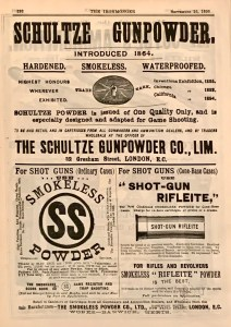 Schultze Powder ad in The Ironmonger